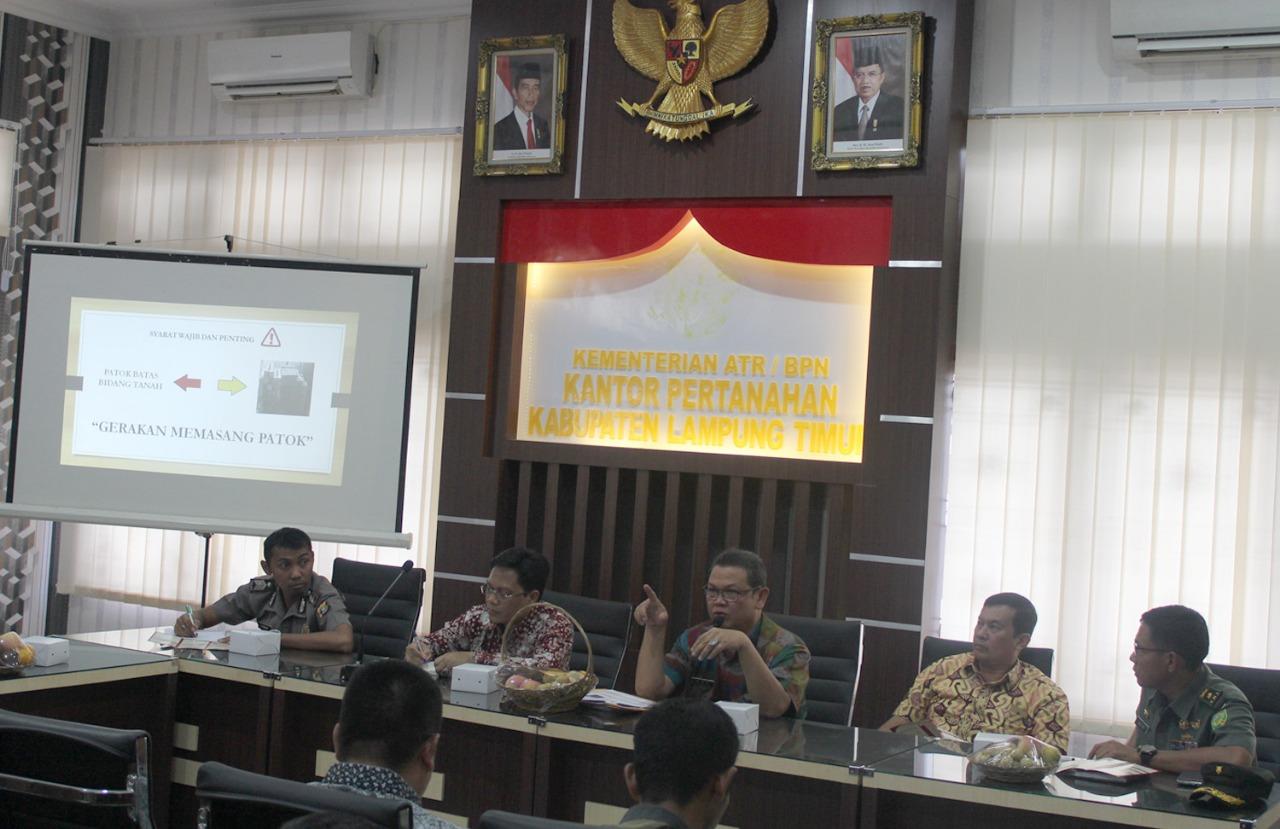 Lampung Timur Sosialisasikan Patok Tanda Batas