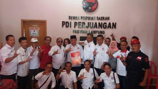 LAMPUNG POST | Marsat Jaya Daftar Gubernur ke PDIP