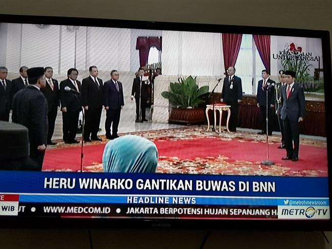Sah, Heru Winarko Jabat Kepala BNN