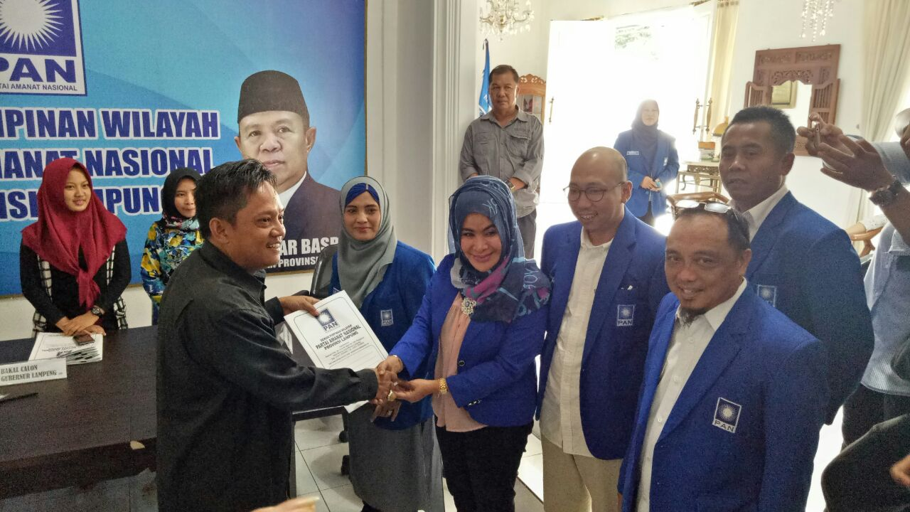 LAMPUNG POST | Gunadi Ibrahim Daftar Balongub di PAN