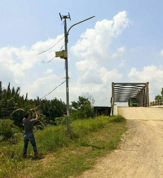 LAMPUNG POST   Lampu Jalan di Mesuji Banyak yang Hilang dan Rusak