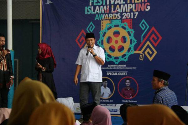 LAMPUNG POST   Mustafa Dorong Perfilman Lampung