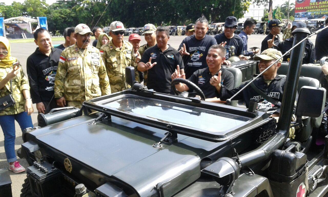 LAMPUNG POST   Danrem Lepas Peserta American Jeep Jambore