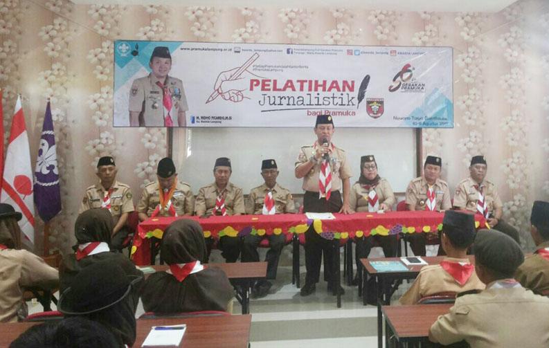 LAMPUNG POST | Kwarda Pramuka Lampung Gelar Pelatihan Jurnalistik
