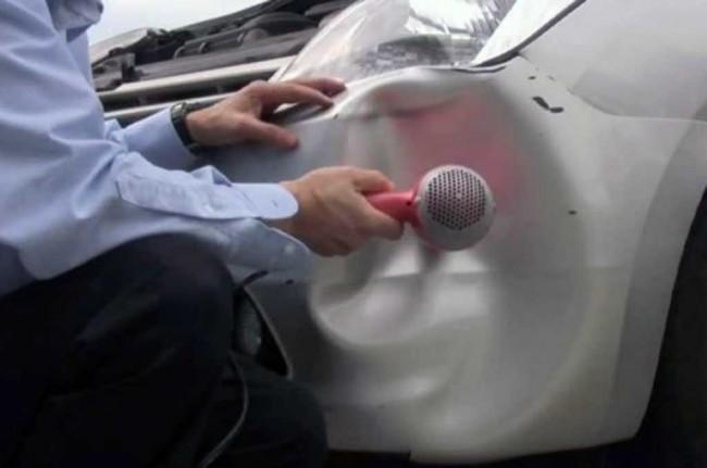 LAMPUNG POST   Bodi Mobil Penyok? Perbaiki dengan Hair Dryer