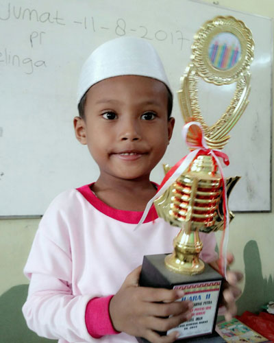 LAMPUNG POST | Muhammad Irfan Zamzami  Bangga Bisa Mengaji