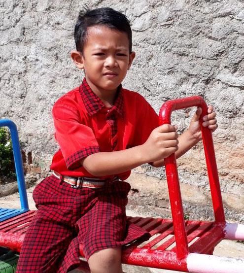 LAMPUNG POST | Dyon Putra Herdiansyah  Juara Lomba Mewarnai