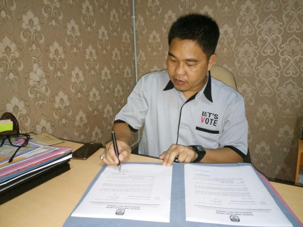 KPU Way Kanan Lakukan Persiapan Pleno DPT