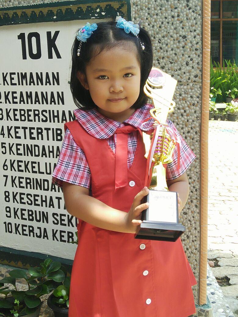 LAMPUNG POST | Putu Calista Kinara P Juara Menggambar