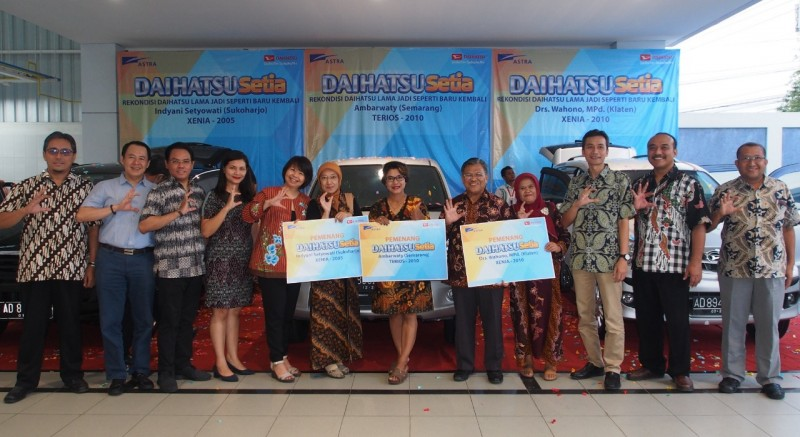 Daihatsu Serahkan 3 Mobil Rekondisi di Yogyakarta