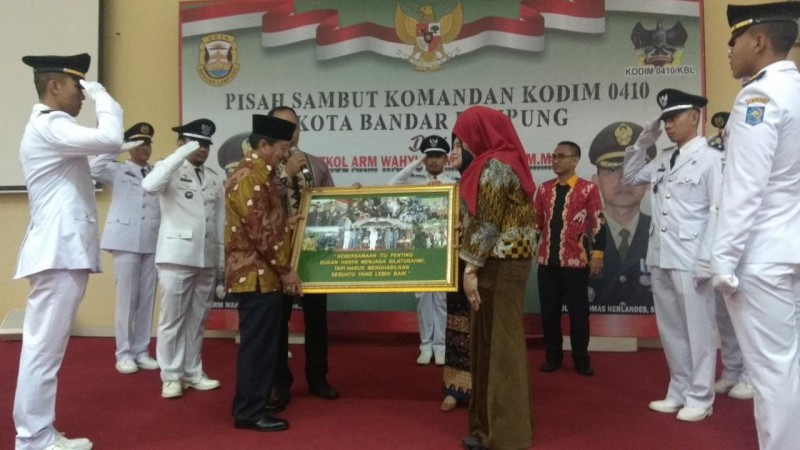 Dandim Bandar Lampung Diganti, Herman HN Puji Letkol Wahyu