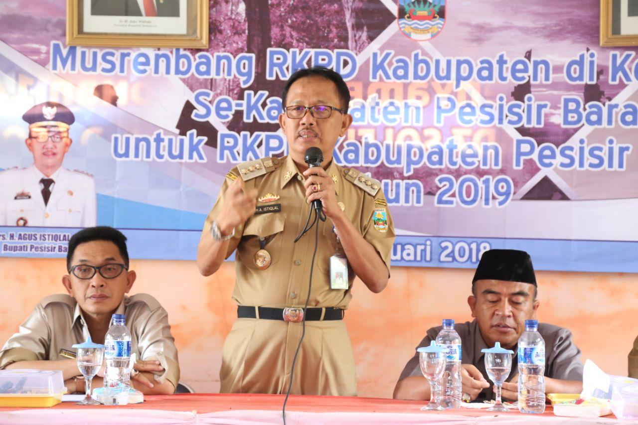 Bupati Agus Istiqlal Hadiri Musrenbang Kecamatan Lemong