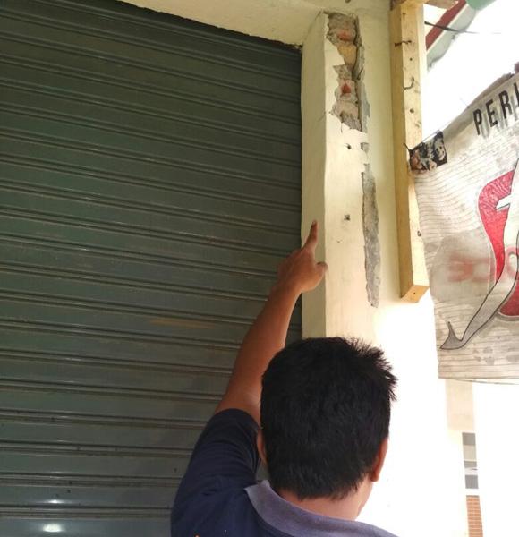 LAMPUNG POST | Pembangunan Pasar di Desa Pagar Jaya Diduga Bermasalah