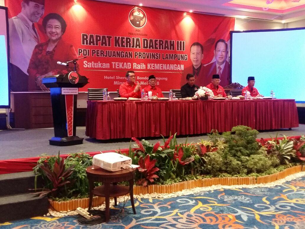 DPD PDIP Lampung Gelar Rakerda III