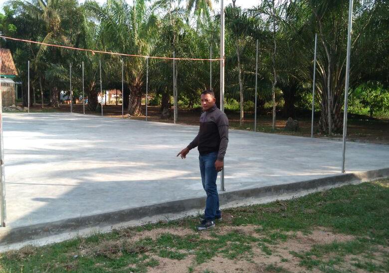 LAMPUNG POST | Pekon Mulyorejo Kini Punya Lapangan Futsal