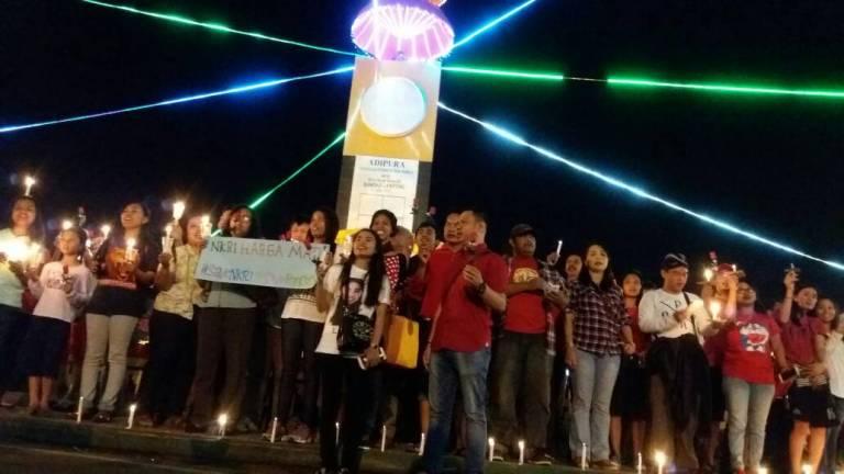 LAMPUNG POST   Warga Lampung Ikut Aksi Gerakan Cinta NKRI
