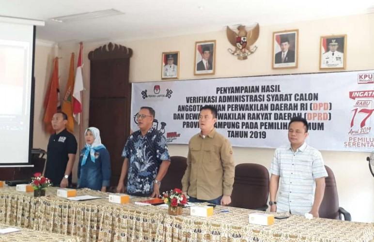 Delapan Calon DPD RI Lakukan Verifikasi Vaktual di Kabupaten/Kota