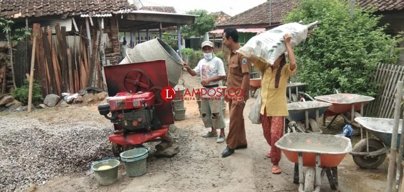 Desa Pematang Kebut Pembangunan Infrastruktur