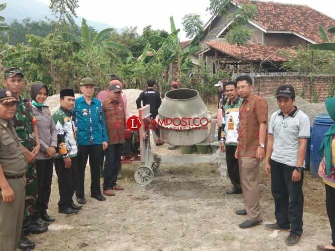 Desa Pematang Lakukan Trail Rabat Beton K225