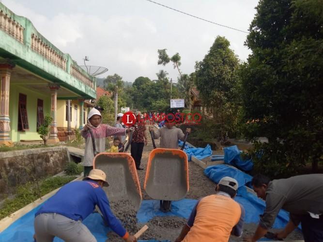Desa Totoharjo Lanjutkan Pembangunan Jalan Beton Penghubung Antardusun
