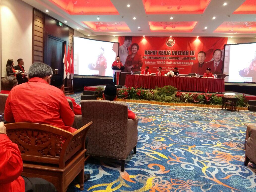 Sudin Tegaskan Dana Rakerda III Hasil Gotong Royong Kader PDIP Lampung