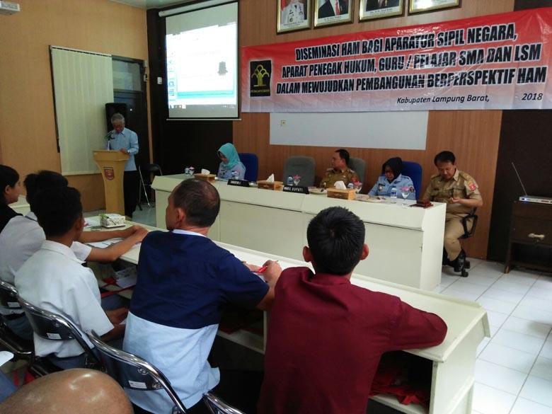 Kemenkumham Lampung Gelar Diseminasi HAM