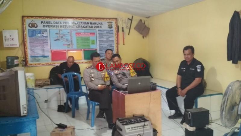 Di Pospam Pun Polisi Koordinasi LewatVideo Conference