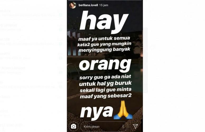 Diduga Hina Suku Lampung, Pemilik Akun Instagram Ini Minta Maaf