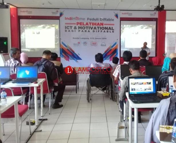 Difabel Lampung Berlatih Hadapi Revolusi Industri 4.0