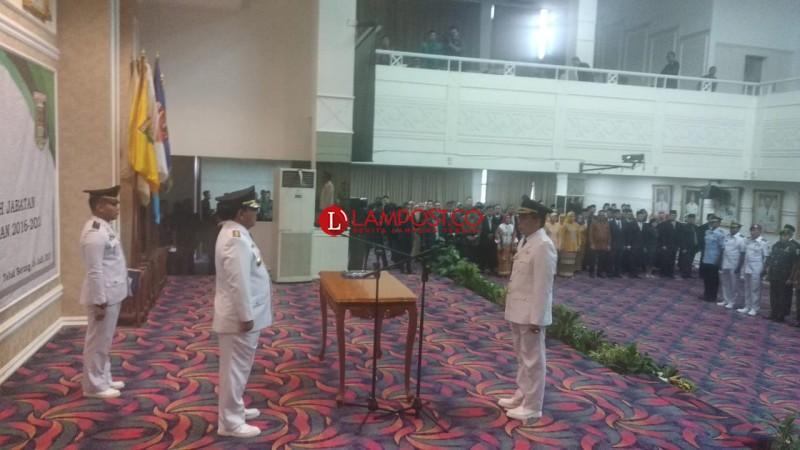 Zaiful Bukhori Resmi Dilantik Jadi Bupati Lampung Timur
