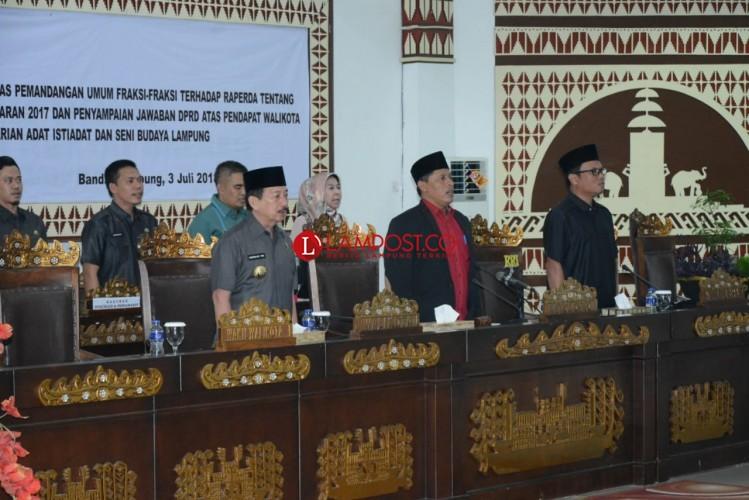 Disetujui Wali Kota, Raperda Adat Istiadat dan Seni Budaya Lampung Masuk Tahap Pansus