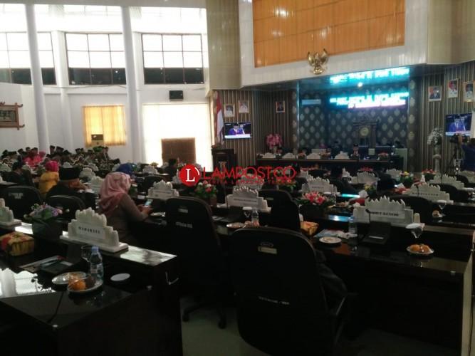 DPRD Way Kanan Paripurna untuk Dengarkan Pidato Presiden RI