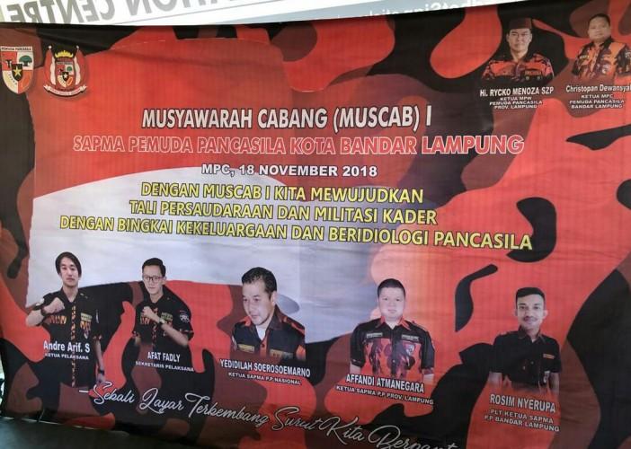 Dua Kandidat Masuk Bursa Ketua SAPMA PP Bandar Lampung
