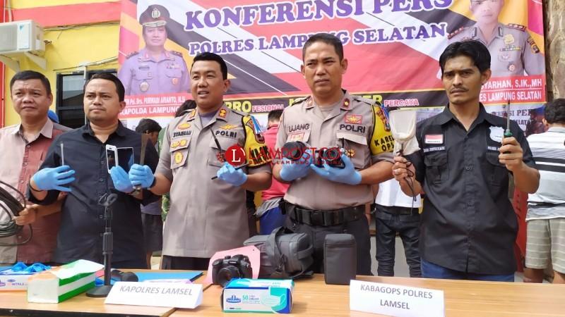 Dua Pekan, 9 Penjahat Ditangkap Polres Lamsel