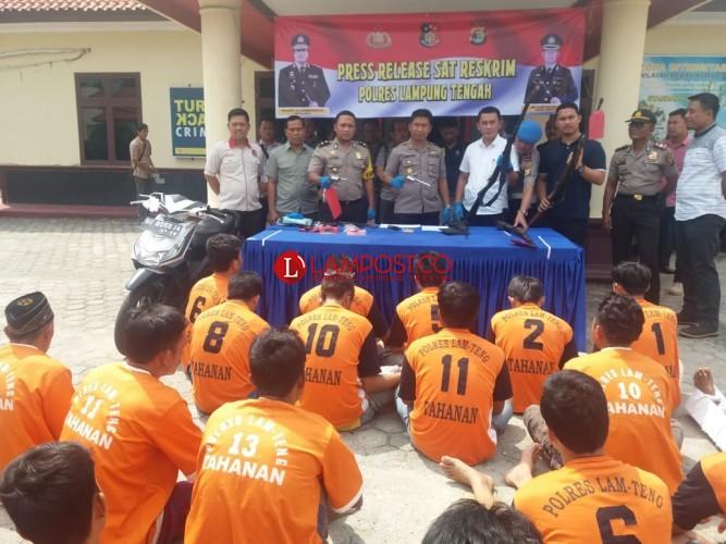 Dua Pekan, Polres Lamteng Ungkap 26 Kasus dan Bekuk 21 Tersangka