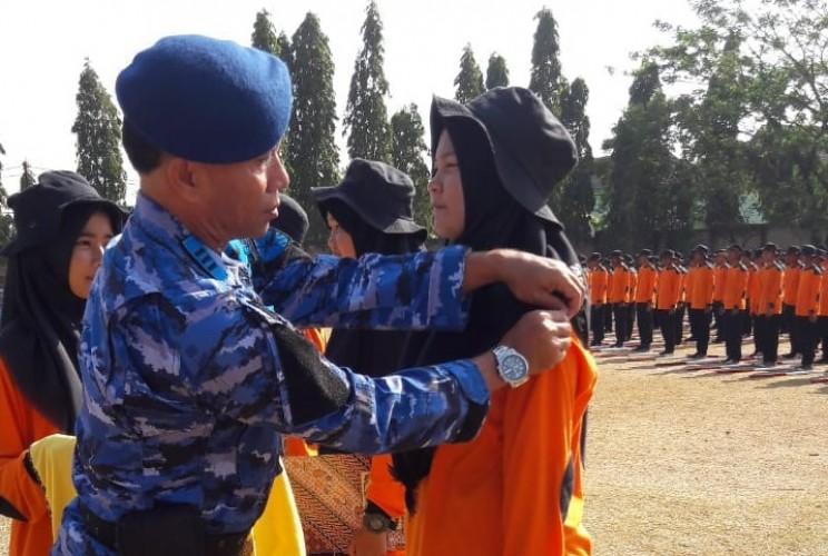 Dua Pekan, Siswa Baru SMKN II Terbanggibesar Jalani Pendidikan Karakter dari  Lanud M Bunyamin