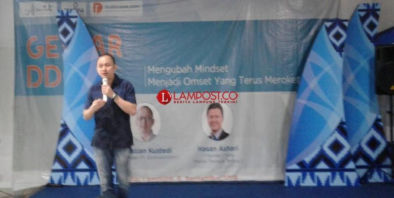 Dusdusan Dorong Pertumbuhan Ekonomi Lampung Lewat Wirausaha