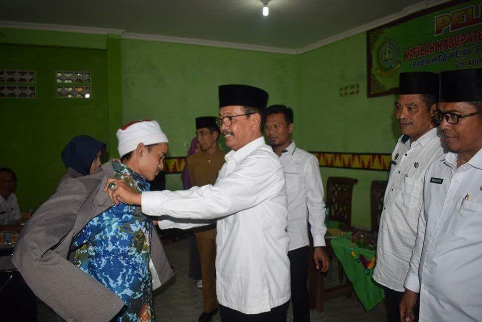 LAMPUNG POST | Tubaba Berangkatkan 46 Peserta untuk Ikuti MTQ Ke-46 Tingkat Provinsi Lampung