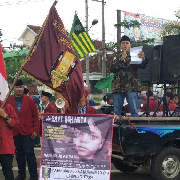 LAMPUNG POST | Gerakan Masyarakat Lampung Utara Aksi Peduli Rohingya