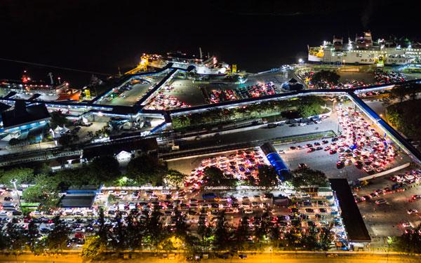 LAMPUNG POST    Kamis Malam Puncak Arus Mudik di Pelabuhan Merak