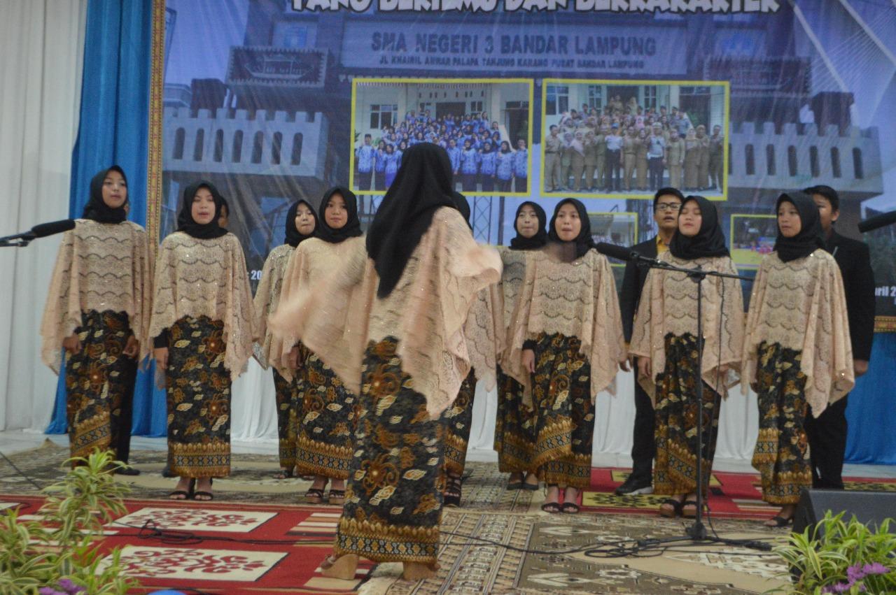 SMA Negeri 3 Bandar Lampung Gelar Pelepasan Siswa