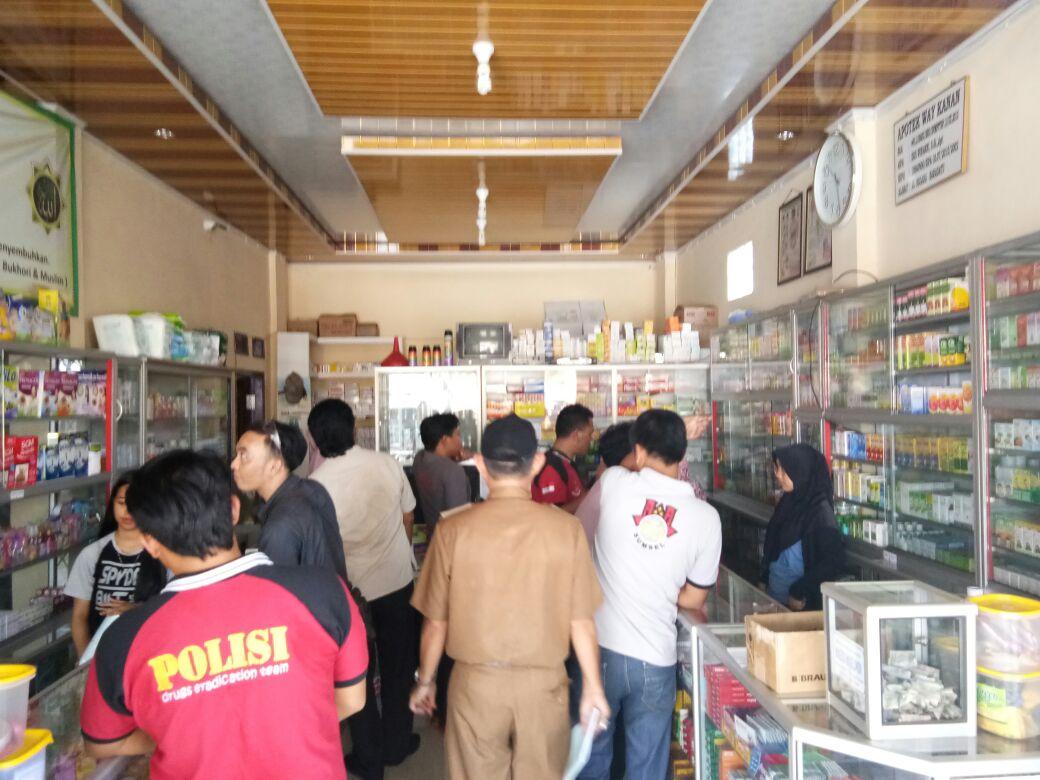 LAMPUNG POST | Satnarkoba Tak Temukan Obat PCC di Way Kanan