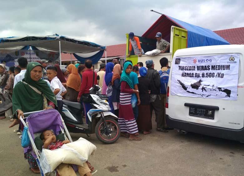 Tekan Harga Beras, Pemprov Gelar Operasi Pasar di Pesawaran