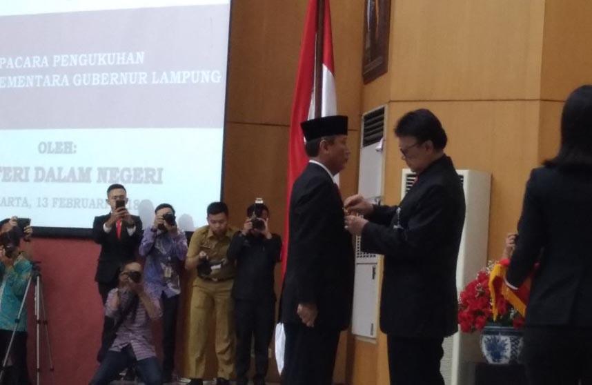 Mendagri Lantik Didik Jadi Pjs Gubernur Lampung