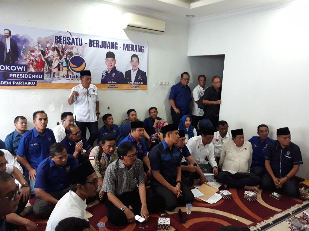 LAMPUNG POST | NasDem Lampung Utamakan Praduga Tak Bersalah