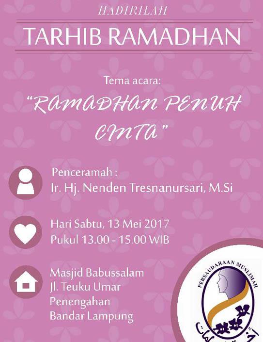 LAMPUNG POST | Salimah Lampung Gelar Tarhib Ramadan Besok