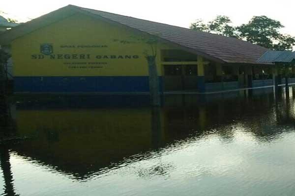 LAMPUNG POST | Sekolah Rentan Banjir