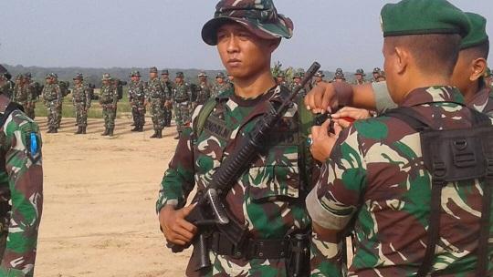 LAMPUNG POST | 210 Personel TNI Ikuti Minggu Militer di PT NTF