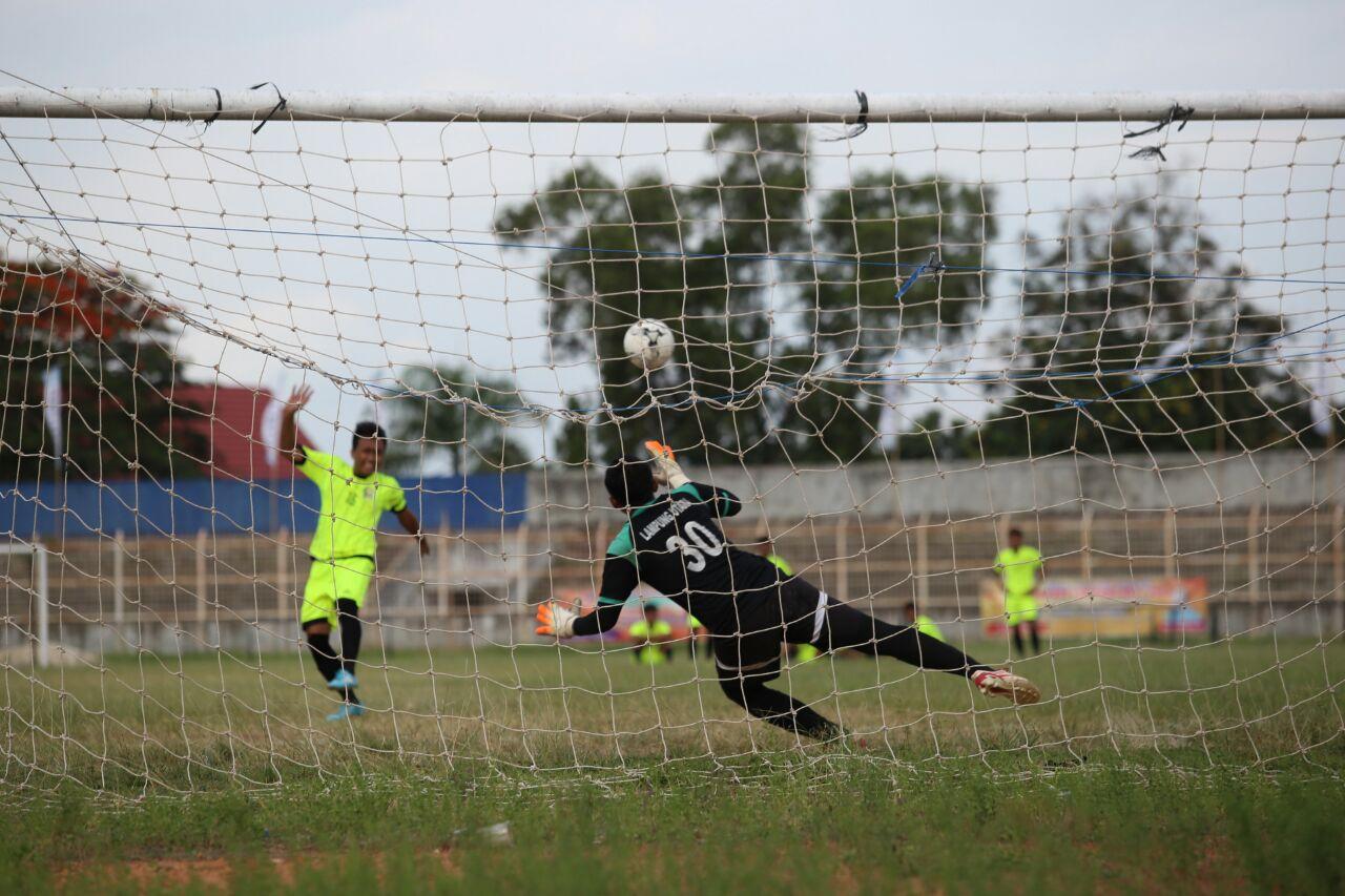 Kesebelasan Lampung Utara Raih Emas Lewat Adu Penalti