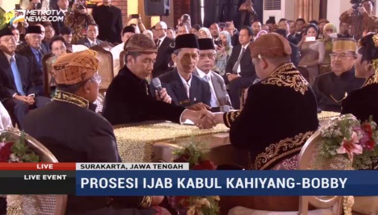 Selamat, Kahiyang Ayu-Bobby Nasution Resmi Jadi Suami Isteri
